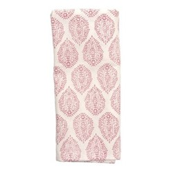 Leaf Set of 4 napkins, 45 x 45cm, pink cotton
