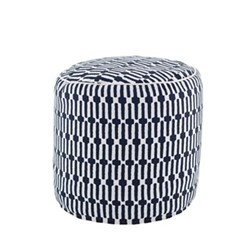 Recycled polyester P.E.T. indoor/outdoor pouf D51 x H51cm
