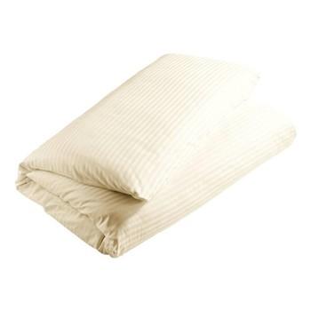 300 Thread Count Sateen Stripe Super king size duvet cover, L260 x W220cm, cream