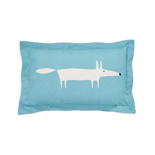 Mr Fox Oxford pillowcase, L48 x W74cm, Teal