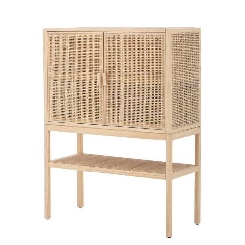 Sanna Cabinet, L90 x H120 x W40 cm, Beige/ Natural
