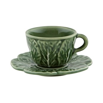 Cabbage Set of 4 coffee cups, 15cl - 12 x 6cm, green
