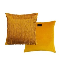 Tassle Cushion, L40 x W40cm, ochre