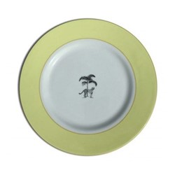 Harlequin - Yellow Cheetah Tea plate, 16.5cm, yellow