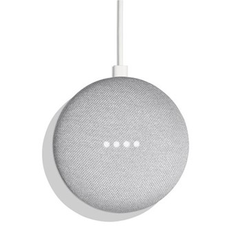 Google Home Mini smart speaker, chalk