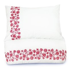 Giselle King size bedding set, 230 x 220cm, white/pink