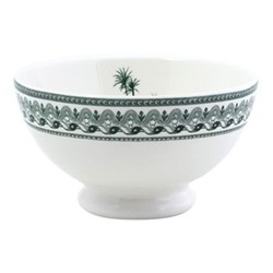 Les Depareillées - Vues d'Orient Pair of bowls, 13.5 x 8cm - 38cl, green