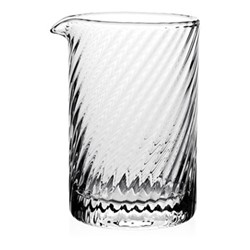 Atlantic Spiral mixing glass, 14cm - 450ml, clear