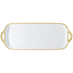 Fontainebleau Long cake plate, 40 x 15cm, gold