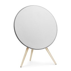 Beoplay A9 - 3rd Generation Speaker, white with maple legs