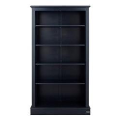 Milne Bookcase, H164 x W89 x D30cm, prussian blue