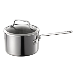 Authority Multi-Ply Clad Saucepan with lid, 2.8 litre - 18cm, stainless steel