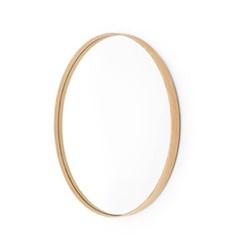 Glance -660 Round wall mirror, Dia66cm, natural oak