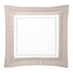 Lutece Square pillowcase, 65 x 65cm, pierre