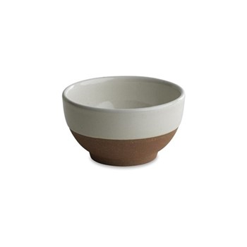 Mali Bowl, D6 x 11cm, white & terracotta