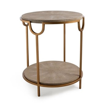 Katia Side table, H56 x D50cm, cream
