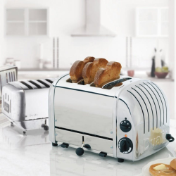 Classic Vario 4 slot toaster, Polished