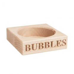 Bubbles Champagne bottle holder, 3 x 11.5 x 11.5cm, Beech Wood