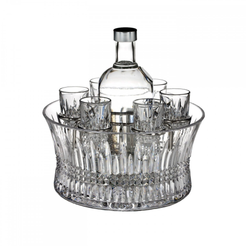 Lismore Diamond Vodka set in chill bowl
