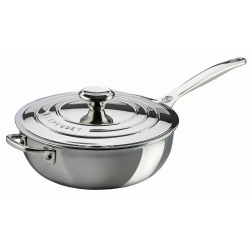 Signature Uncoated Chef's pan with lid, 24cm, Stainless Steel
