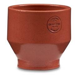Edge Indoor pot, Dia13 x H13cm, teracotta/burned red