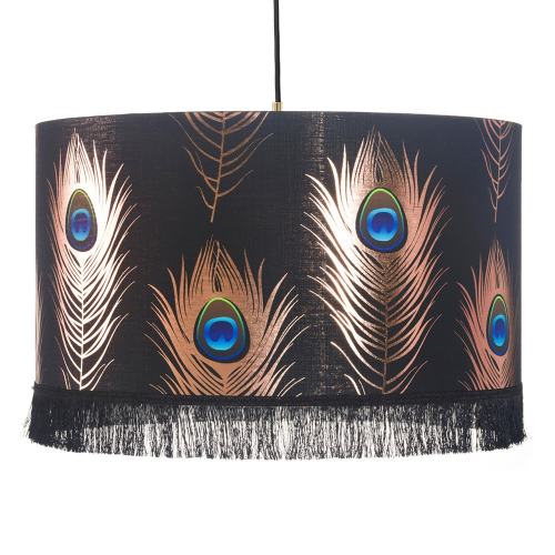 Peacock Feathers Pendant Lamp, H28 x Dia45cm