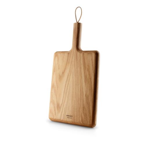 Nordic Kitchen Wooden cutting board, 32 x 24cm, Oak/Leather