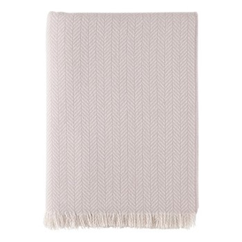 Cashmere woven throw 190 x 140cm