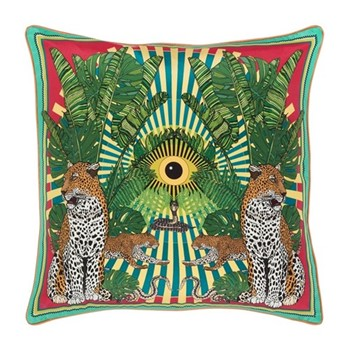 Eye of the Leopard Cushion, L45 x W45cm, lime