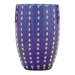 Perle Pair of tumblers, 32cl, blue