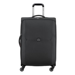 Mercure 4 wheel expandable trolley case, 68cm, black