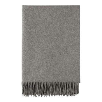 Plain Woven throw, 190 x 140cm, granite