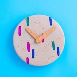 Blobs Wall clock, D23.5 x H3cm, multi-colour