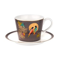 Chelsea Collection Teacup and saucer, 20cl, dark grey