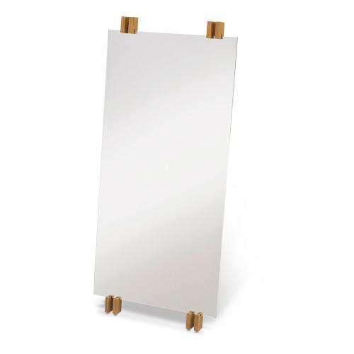 Cutter Mirror, W50 x D5.7 x H110cm, Teak