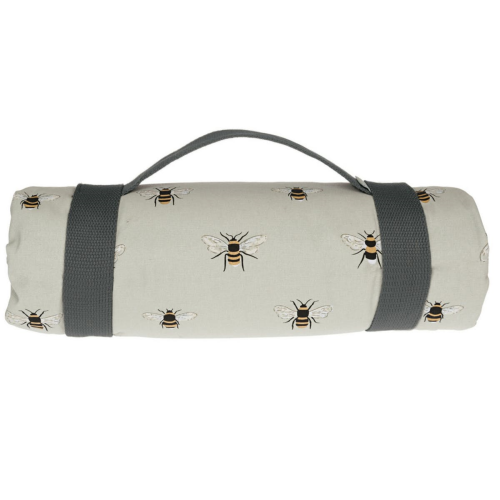 Bees Picnic blanket, 140 x 145cm, Cotton With Water Resistant Back