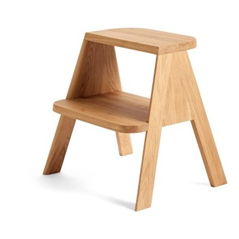 Butler Wooden stool with step, W50.5 x D42 x H49.5cm, oak
