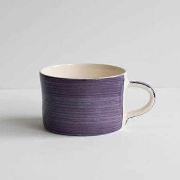 Plain Wash Set of 6 mugs, H7 x W10.5cm, grape