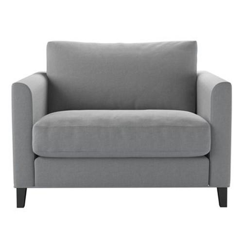 Izzy Love Seat, H87 x W110 x D97cm, Pumice