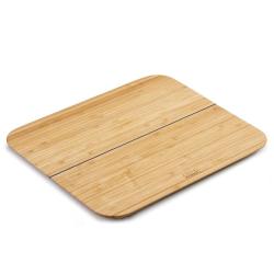 Chop 2 Pot Bamboo chopping board, W26 x D21cm