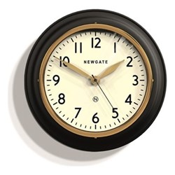 The Cookhouse II Wall clock, 35 x 10cm, matte black/gold