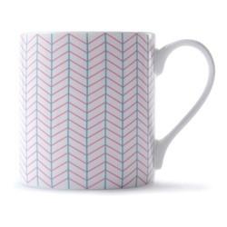 Ebb Mug, H9 x D8.5cm, pink/turquoise