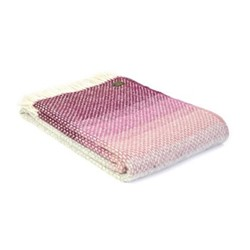 Ombre Throw, L130 x W200cm, rosewood
