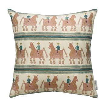 Caballo Cushion, 60 x 60cm, blue red