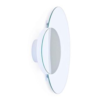 Eclipse Wall mirror, H45 x W55 x D10cm, white/mirrored glass