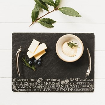Engraved Large antipasti serving tray, 50 x 25cm