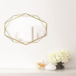 prisma Mirror, brass