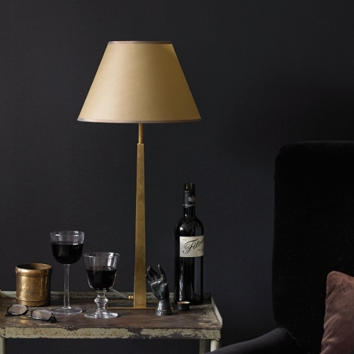 Trafalgar Smaller table lamp - base only, 48 x 16cm, Antique Brass