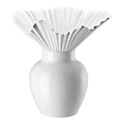 Falda Vase, 27cm, white