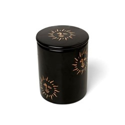 Sun Small candle, H10 x D10cm, black and gold